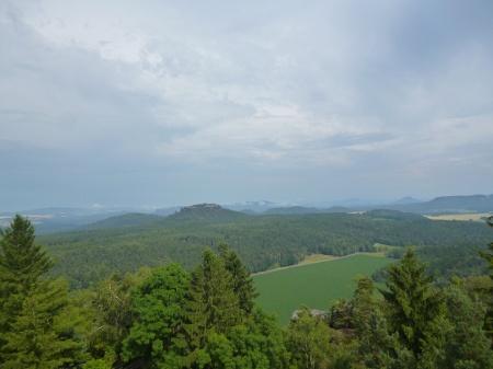 Foto Aussicht auf die Felsenwelt der Sächsischen Schweiz