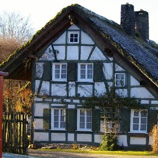 Ein typisches Fachwerkhaus in Höfen.