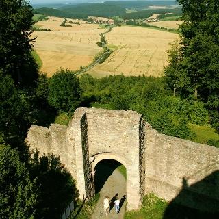 Ausblick von der Ruine Henneberg