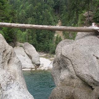 Blick vom Oberen Wasserfall.