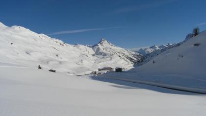 Feine Aussicht auf das Skigebiet Schröcken