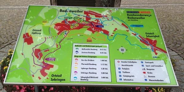 Wanderrouten Übersicht am Schlossplatz