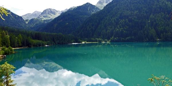 Der Start ist am Antholzer See