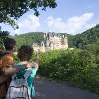 Blick auf Burg Eltz