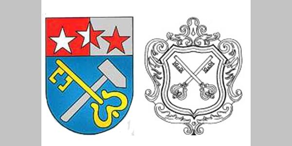 Das Wappen Silbertal und die Papstschlüssel