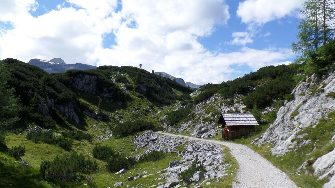 Kleine Hütte am Weg zur Gjaid Alm