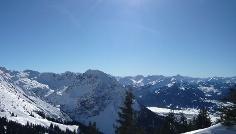 Blick auf das Rubihorn über Oberstdorf