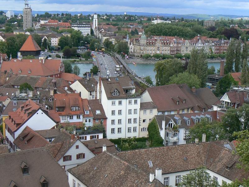 Die Rheinbrücke in Konstanz