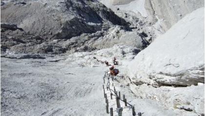 Klettersteig Johann Topo : Anna und johann südwand klettersteig auf den hohen dachstein u2022