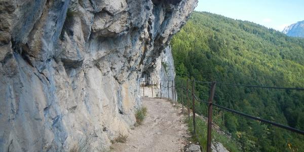 """Wanderweg entlang der """"Ewigen Wand"""""""