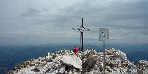 Auf dem Gipfel des Hohen Göll.