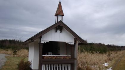 die Kapelle 700 m weg vom Weg ein eindrucksvoller Ort