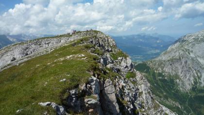 Rückblick zum Schneibstein-Gipfel.