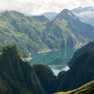 Lac di Luzzone von der Cap. Motterascio aus gesehen