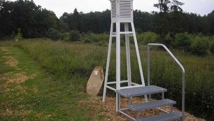 Modell einer Wetterstation am Walinformationszentrum Hammerhof