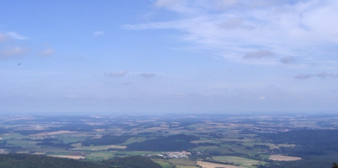 Vom Aussichtsturm haben wir bei klarem Wetter einen herrlichen Ausblick.