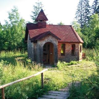 Die Waldkapelle: das Ziel unserer Wanderung.