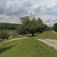 Der Weg führt entlang eines der letzten naturbelassenen Stücke der Donau.