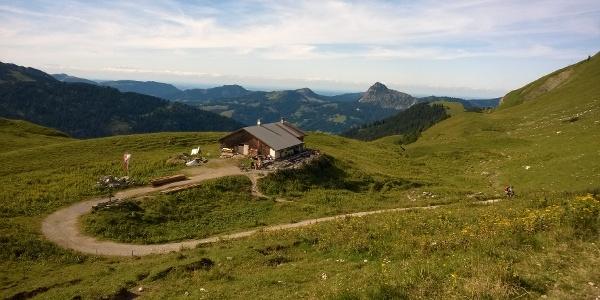 Die idyllisch gelegene Gappenfeldalpe