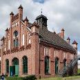 Das Werkstattgebäude der Zeche Zollern.