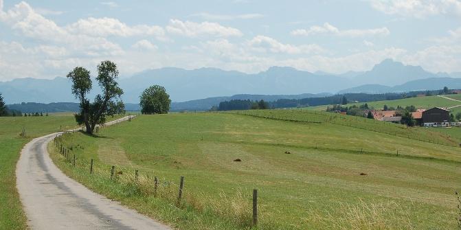 Auf der alten Landstraße nach Rieder.