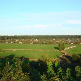 Blick vom Bedundbike in Kamminke nach Polen