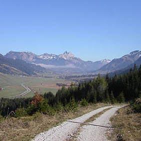 Herrliche Forstwege eingebunden in ein atemberaubendes Panorama.