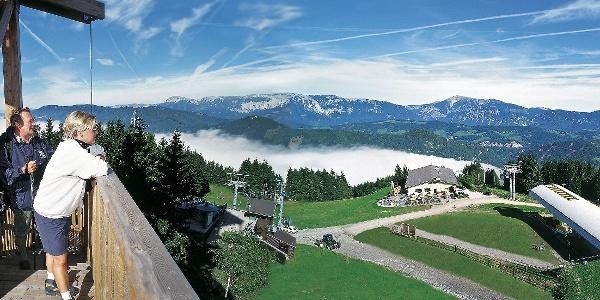 Bergstation Zau[ber:]g Semmering - Start des alpannonia® - Weitwanderweges