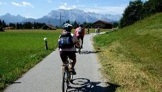 Unser Radweg zwischen Wallgau und den Seen.