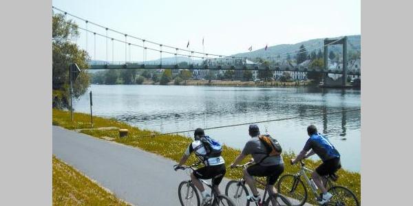 Radfahren an der Mosel in Wehlen