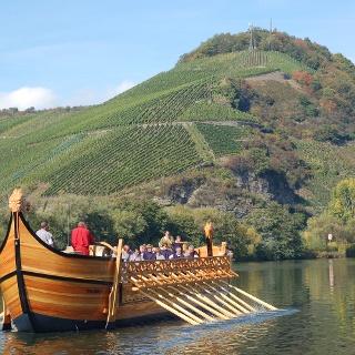Das rekonstruierte römische Weinschiff