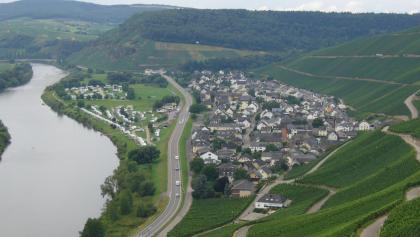 Die Ortsansicht von Klüsserath.