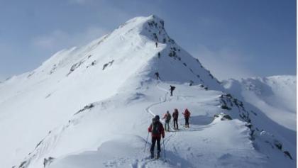 der steile Gipfelgrat