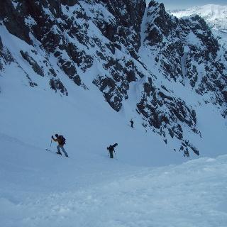 Steiler Aufstieg zur Kuhlochscharte.