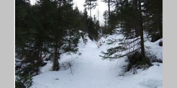 Steile Hohlgasse - interessant bei der Abfahrt :-)