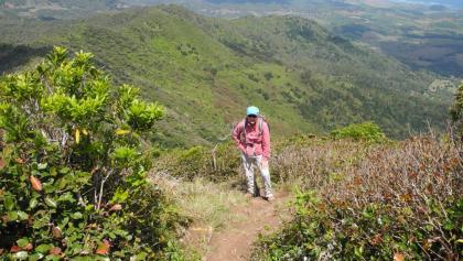 Nur mehr wenige Schritte zum Gipfel