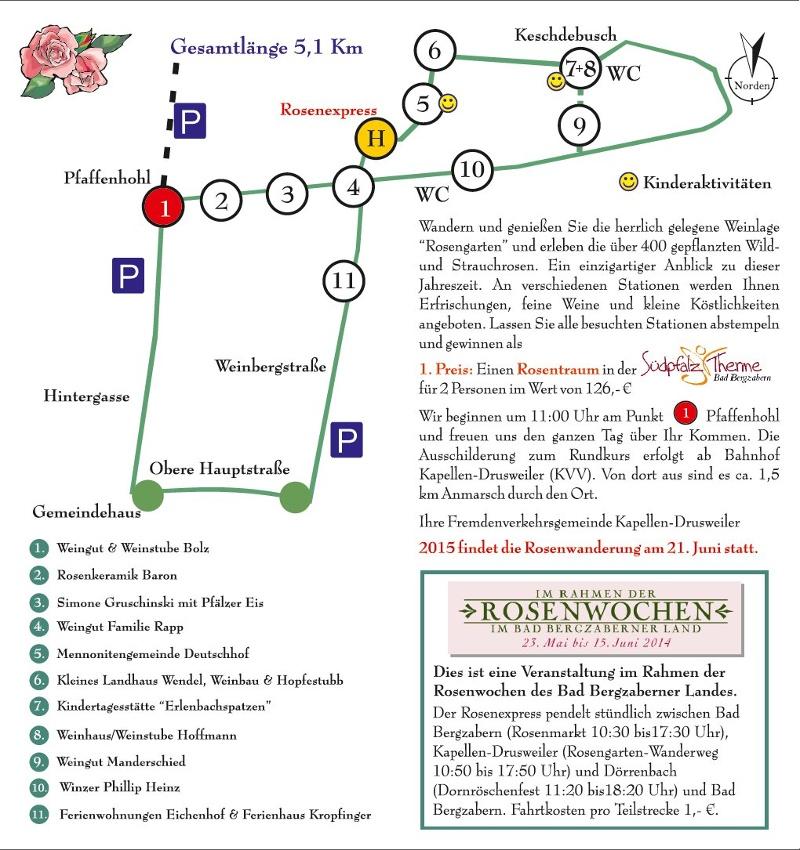 Tour: Rosengarten | Südliche Weinstraße