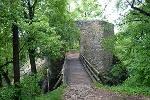 Der Eingang zur Ruine Rauber.