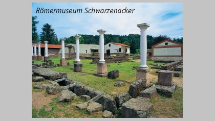 Säulengang im Römermuseum Schwarzenacker.