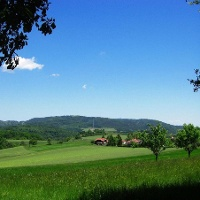 Blick auf Donnersbergmassiv von Igelborner Hütte