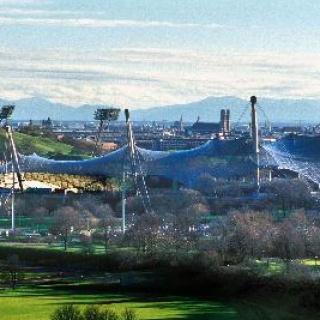 Der Münchener Olympiapark. Ziel des