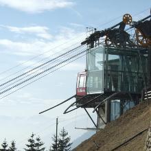 Gipfelstation der Seilbahn nach St. Martin im Kofel