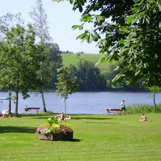 Am Naturbad Badsee können wir eine erfrischende Pause einlegen.