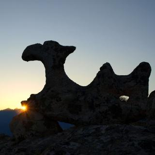 Stein-Kamel 655m am Aufstieg zum Conca