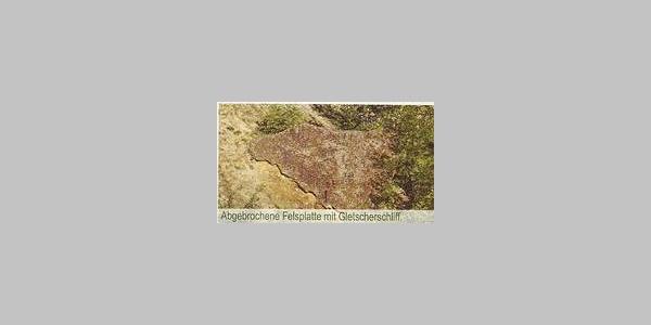 Gletscherschliff; Abgebrochene Felsplatte