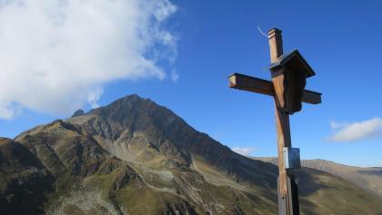 Das Kögele (2192 m), auch ein schönes Tourenziel, wenn man es gemütlicher will. Von hier kann man auch direkt zur Krimpenbachalm  absteigen.