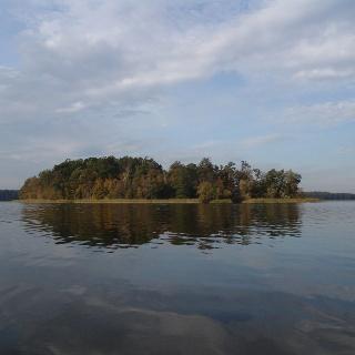 Die Remusinsel im Rheinsberger See ist ein idealer Rastplatz für Wasserwanderer.
