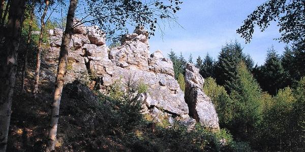 Teufelsfels, Ansicht von unten