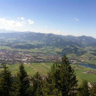 Blick über Burgberg auf Sonthofen