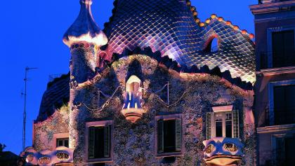 Vue de nuit de la Casa Batlló